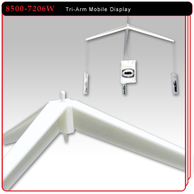 Tri-Arm Mobile Ceiling Display
