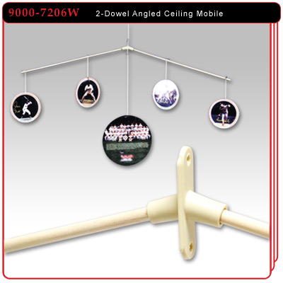 2-Dowel Angled Ceiling Display Mobile