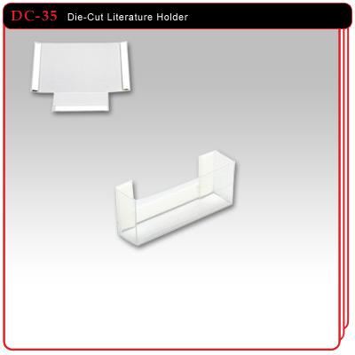 Die Cut Literature Holder 3 1 2 Quot W X 1 1 2 Quot H X 85d