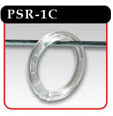 Plastic Split Rings - Clear