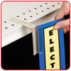 Shelf-Top SuperGrip� Sign Holder
