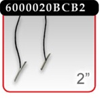 "2"" Black Cotton Cord, 2 Ends Barbed -#6000020BCB2"