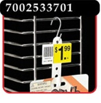 6 Station Double-Duty™ Merchandising Strip with 2-1/2 inch header