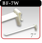 "Butterfly Hook - White Plastic - 7""d -#BF-7W"