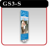 "Gripgraphics Banner Display Stand - 36"" - Silver"