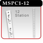 12-Station Plastic Merchandising Strip-#MSPC1-12