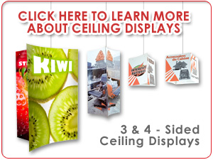 Learn More About Hanging Ceiling Displays