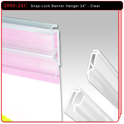 "Snap-Lock Banner Hanger 24"" - Clear"