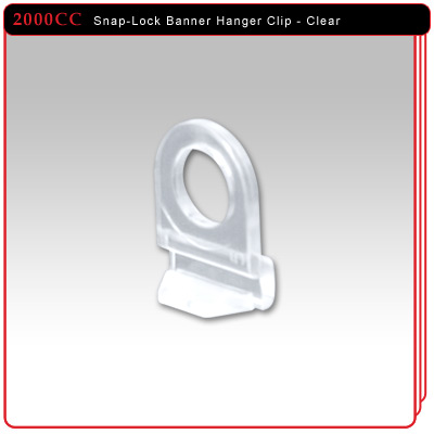 Snap-Lock Banner Hanger Hanging Clip - Clear