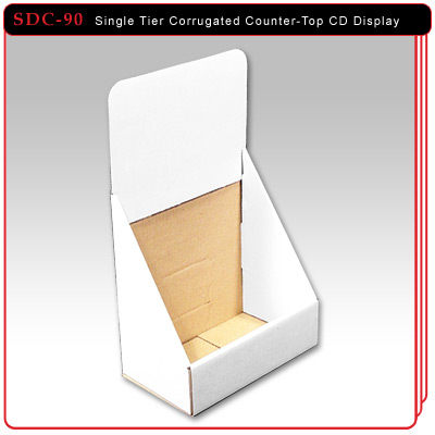Single Tier Corrugated CD Display