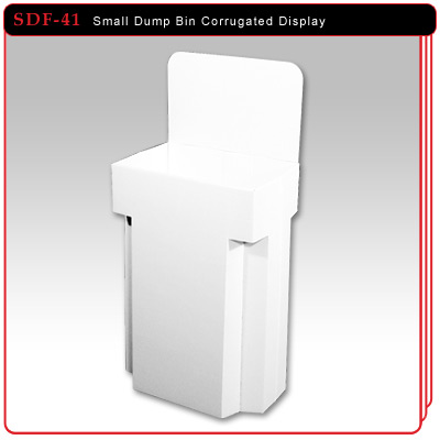 Small Bin Corrugated Display
