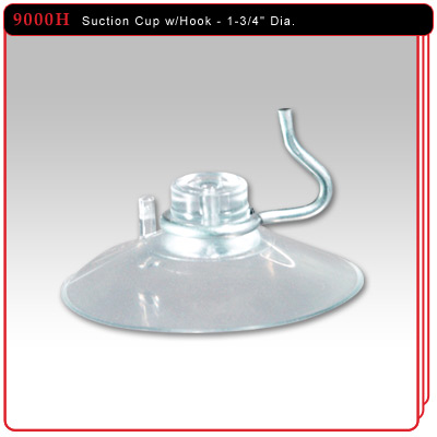 "1-3/4"" Suction Cup w/Hook"