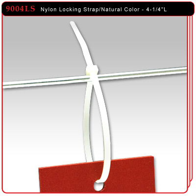 "Natural Color - 4-1/4""L Nylon Locking Strap"