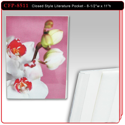 "Closed Style Literature Pocket - 8-1/2""w x 11""h"
