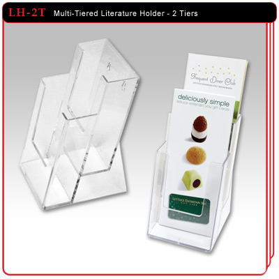 Multi-Tiered Literature Holder - 2 Tiers
