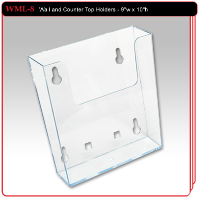 WML-8 - Wall and Counter Top Literature Holder