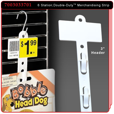 Double-Duty™ Merchandising Strip