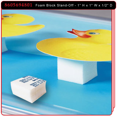 Foam Block Stand-Off - White