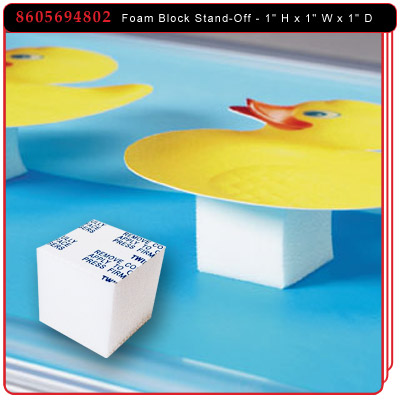 Foam Block Stand-Off Cube - White