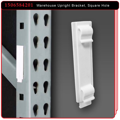 Warehouse Upright Bracket for Square Holes