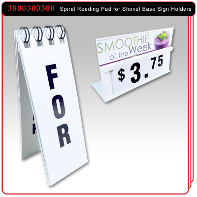 Spiral Reading Pad for Shovel Base Sign Holders