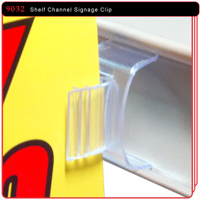 Shelf Channel Signage Clip