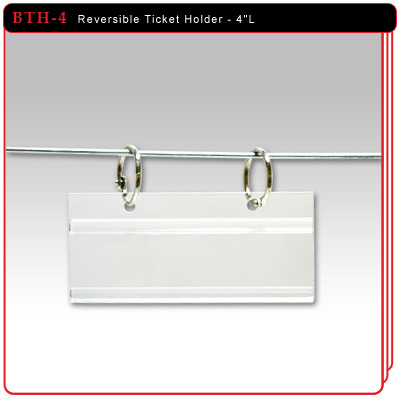"Reversible Ticket Holder - 4""L"