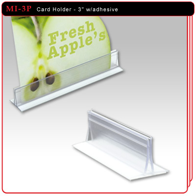 Card Holder with adhesive - 3""