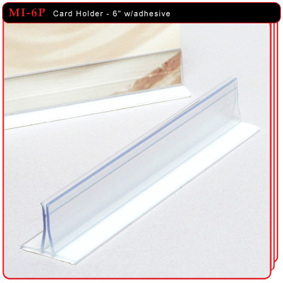 Card Holder with adhesive - 6""