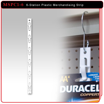 6-Station Plastic Merchandising Strip
