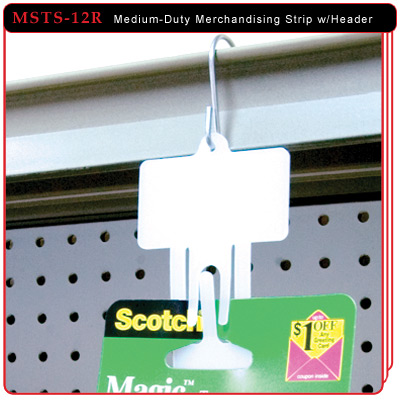 Medium-Duty Merchandising Strip with Header