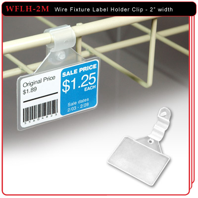 "2-1/16"" Wire Fixture Label Holder Clip"