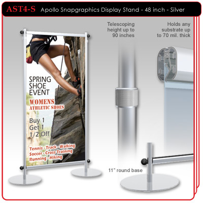 "48"" - Apollo Snapgraphics Display Stand"