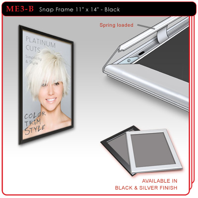 Metal Snap Frame - Black