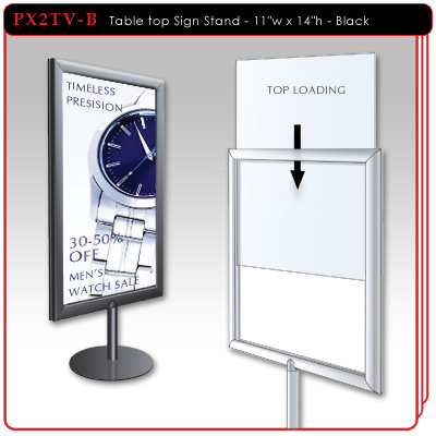 Table top Sign Stand - Black
