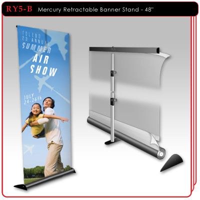 48 inch - Mercury Retractable Banner Stand