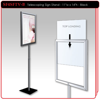 Telescoping Sign Stand