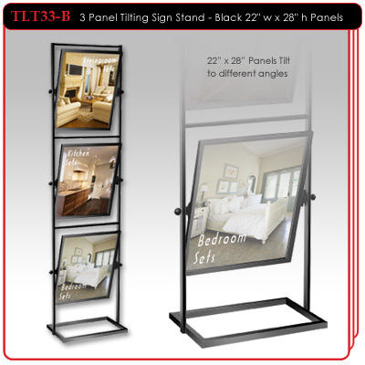 3 Panel Tilting Sign Stand