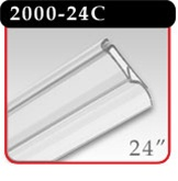 "Snap-Lock Banner Hanger 24"" - Clear -#2000-24C"