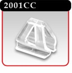 Aluminum Banner Hanger - Mounting Clip, Clear -#2001CC