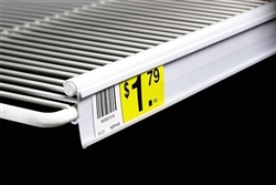 White C-Channel for Double Wire Shelf