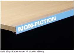 "Data Strip® Label Holder for Wood Shelving 1.25"" H 48"" L"