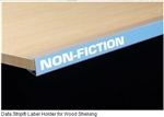 "Data Strip® Label Holder for Wood Shelving 7/8"" H  48"" L"
