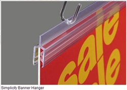 "BHTSG SuperGrip® Simplicity Banner Hanger 36"" L Holds 1/8""-3/16"""