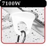 Twist-On Series ceiling mount - White -#7100W