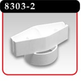 "Top Sign Holder For 1-3/4"" O.D. Pole- White Plastic -#8303-2"