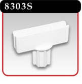 "Top Sign Holder For .841"" I.D. Pole - White Plastic -#8303S"
