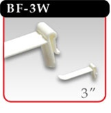 "Butterfly Hook - White Plastic - 3""d -#BF-3W"