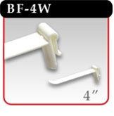 "Butterfly Hook - White Plastic - 4""d -#BF-4W"