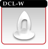 "Dart Clip For Use w/ 1/4"" Holes  - White -#DCL-W"